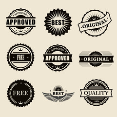 vector commercial stamps set in vintage style for business