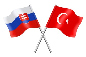 Flags: Slovakia and Turkey