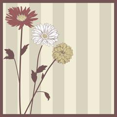 Vintage elegant flower postcard