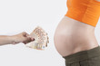 money for tummy pregnant