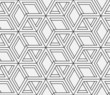 Seamless geometric pattern in op art design. Vector art. - 69942189