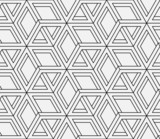 Fototapety Seamless geometric pattern in op art design. Vector art.