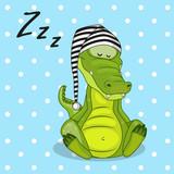 Fototapety Sleeping Crocodile