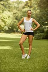 Portrait of a pretty Sporty Woman outdoor