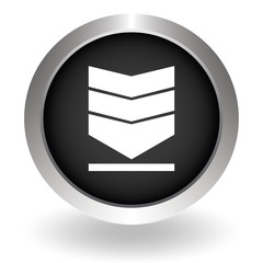 Vector network upload icon. Black Button sign symbol for website