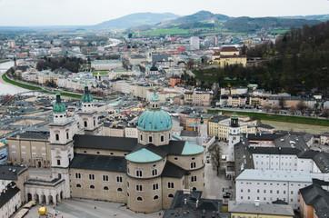 Top view of Salzburg, Austria