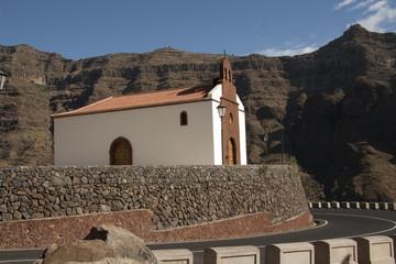 Church in El Hornillo, Valle Gran Rey, La Gomera