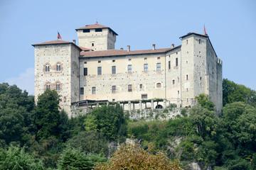 Rocca Borromeo fortress at Angera on lake maggiore