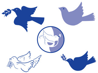 Dove of peace icons