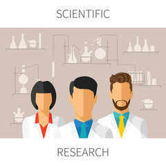 Vector concept illustration of scientific research