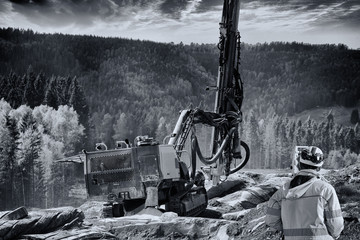 surveying instrument and rock blasting industry