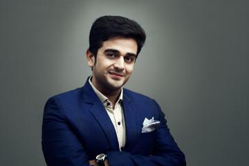 Indian handsome happy man