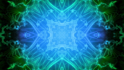 Science Fiction Blue Green VJ Looping Animated Background