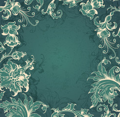 Green  Victorian background