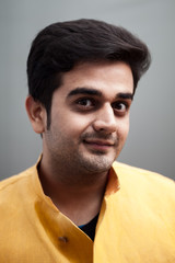 Portrait of handsome indian young man