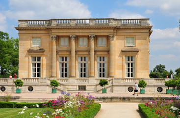 France, the Marie Antoinette estate in the parc of Versailles Pa