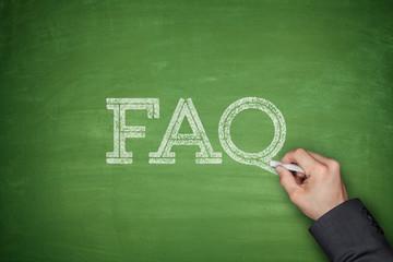 FAQ text concept