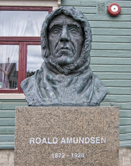 Roald Amundsen Statue in Tromso, Norway