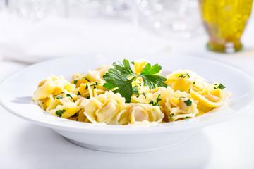 plate of tortellini