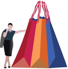 donna con acquisti