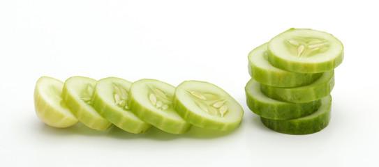 Fresh slice cucumber