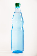 Filled bottle of mineral water
