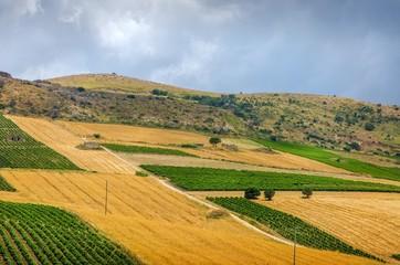 Paysage sicilien.