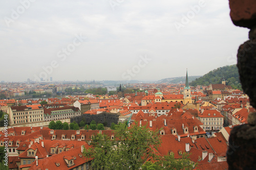 Red brick roofs of Prague.
