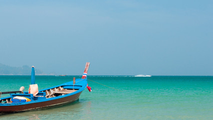 Long boat at the beach