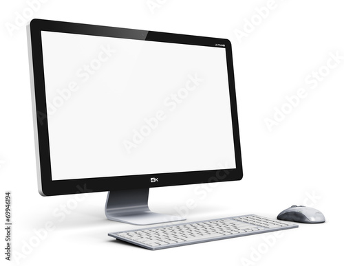 Leinwandbild Motiv Desktop computer