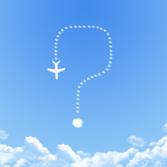 Plane on Cloud shaped ,dream concept