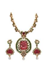 Diamond necklace with diamond earring