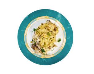 Tetrazzini is an American dish