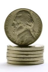 Jefferson Nickel 니켈 (미국 동전) 5美分硬币 ניקל (מטבע אמריקני)