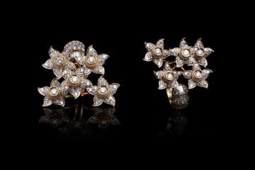 Close up diamond rings