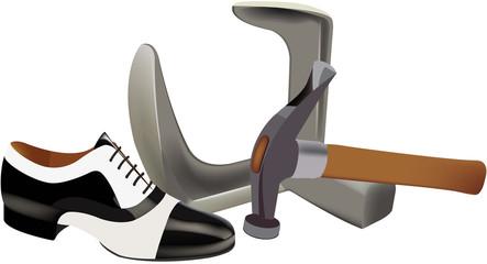 calzatura maschile da ballo bicolore