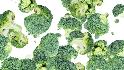 Broccoli background video (with alpha)
