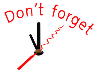 Don't forget with clock concept