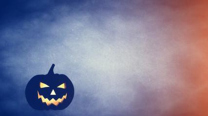 Halloween carved pumpkin , jack o' lantern