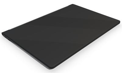 3d closed detailed laptop