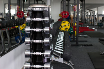 dumbbells and other sport's equipments
