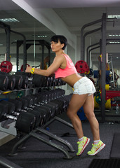 girl  doing athletic  exercise