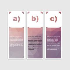 Infographic poligonal elements