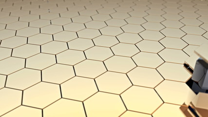 moving stage of honeycomb surface