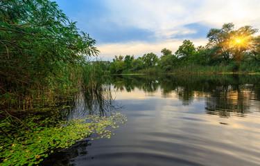 Enening scene on river