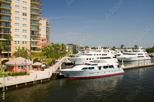 canvas print picture Yachthafen in Fort Lauderdale