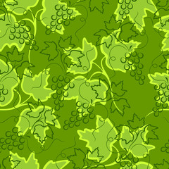 Grape seamless background.