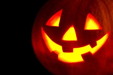 Halloween pumpkin on black