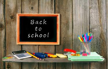 Back to school. School accessories .