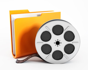 Folder and film reel